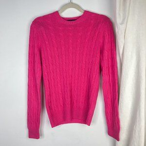 Brooks Brothers Cashmere Cable Knit Sweater Pink